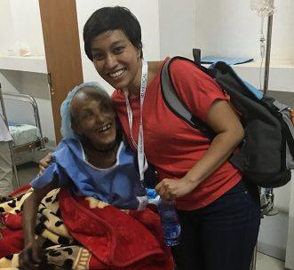 wings of healing volunteer with patient